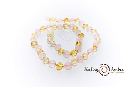 Gemstone & Baltic Amber Anklets