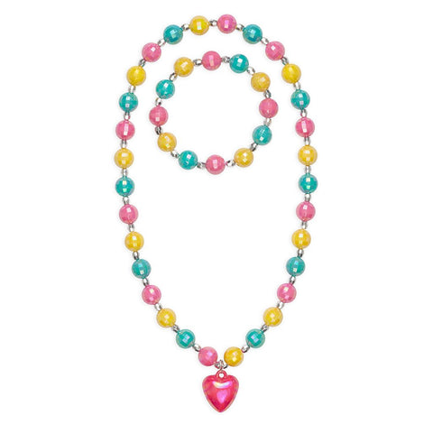Happy Heart Necklace and Bracelet