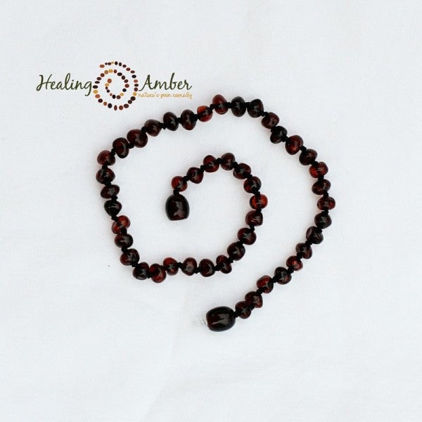 Baltic Amber Teething Anklet Molasses