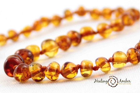 Baltic Amber Teething Anklet Caramel