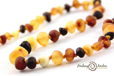 Baltic Amber Teething Necklaces Raw Multi