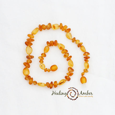 Baltic Amber Teething Necklaces Raw Caramel