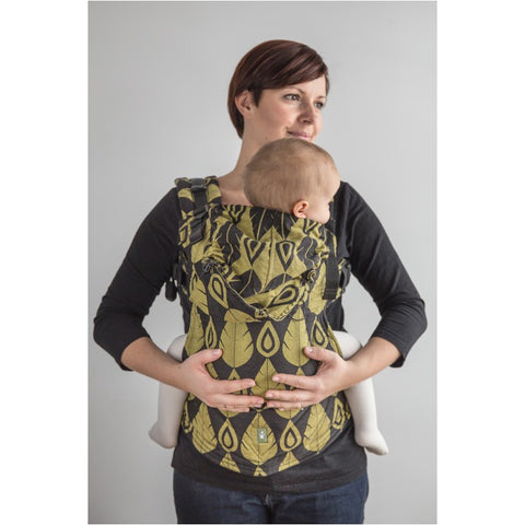 LennyLamb Ergonomic Carrier -  Northern Leaves Purple & Yellow - Baby Size