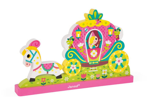 Janod Princess Magnetic Vertical Puzzle