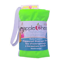 AppleCheeks Zippered Storage Sac Watt On Earth
