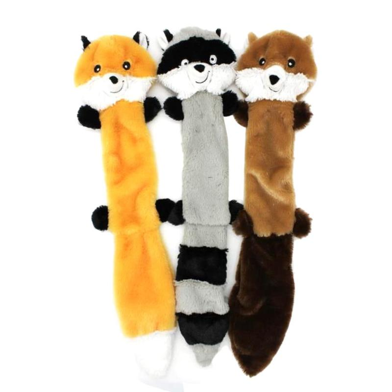 Free Shipping! 3pcs Cute Animals Plush Squeak Toy Pet Dog Chew