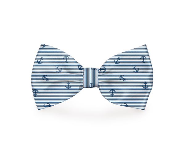"Free Shipping! ""Come Sail Away"" Anchor Dog Bow Tie"