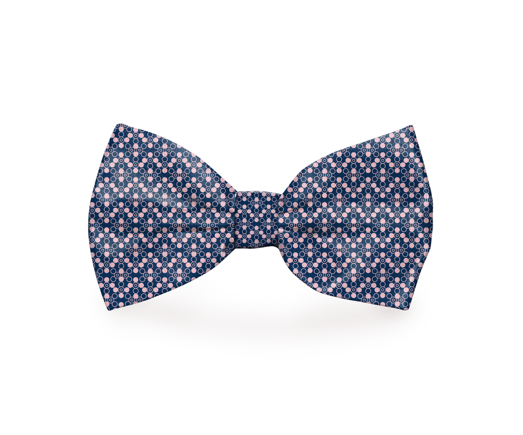 "Free Shipping! ""Pink & Blue"" Dog Bow Tie"