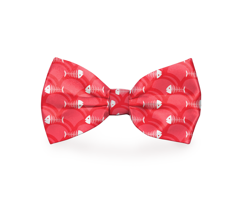 "Free Shipping! ""Fishbone"" Fish Dog Bow Tie"