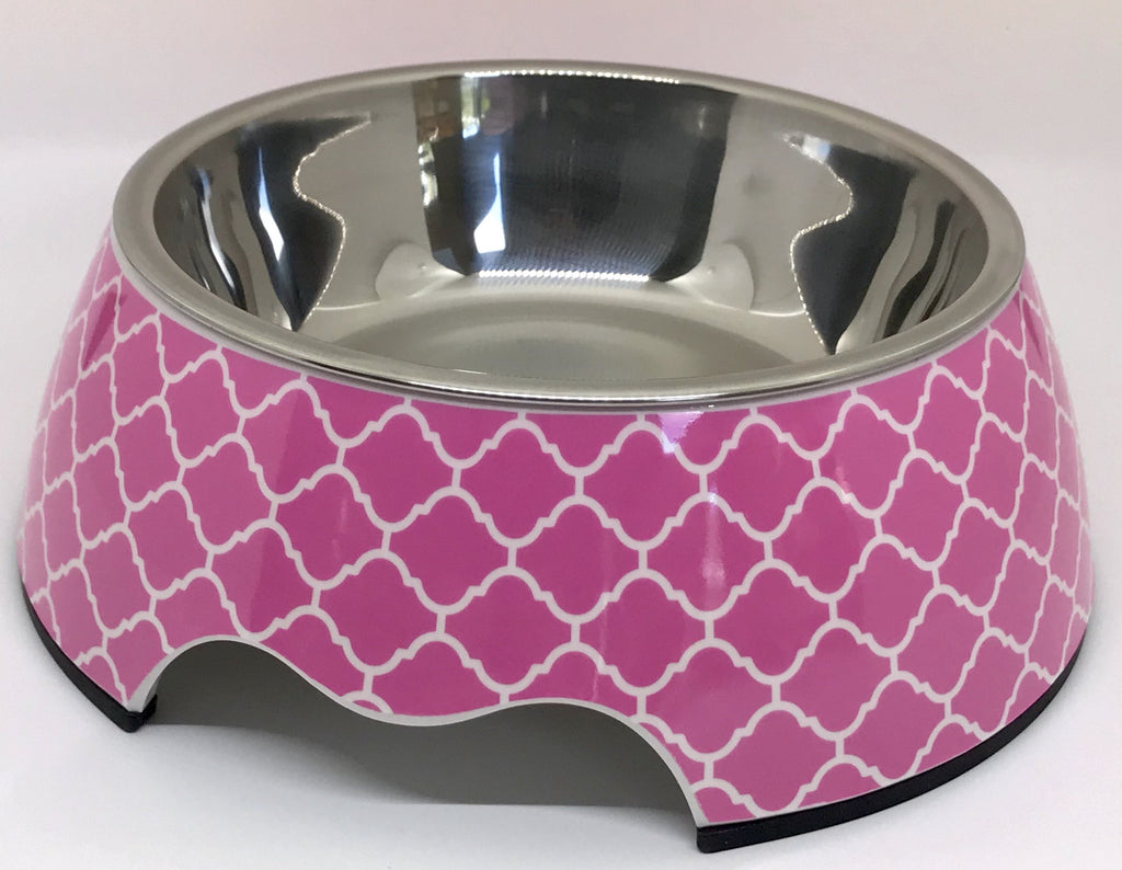 Free Shipping! Dish Cutesy Pink Medium Size Dog Bowl