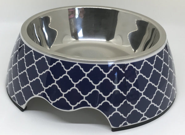 "Free Shipping! ""Modern Navy"" Medium Size Dog Bowl"