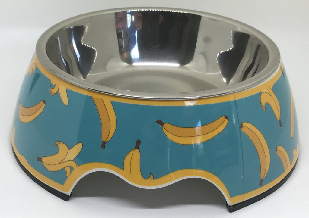 "Free Shipping! Dish ""Going Bananas"" Medium Size Dog Bowl"
