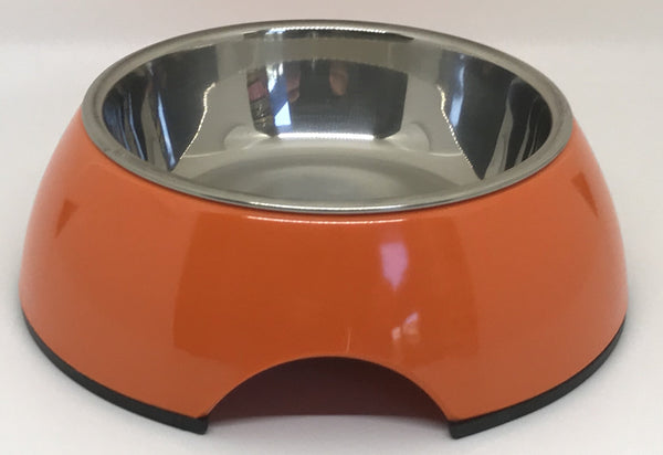 "Free Shipping! Dish ""Orange"" Small Size Dog Bowl"