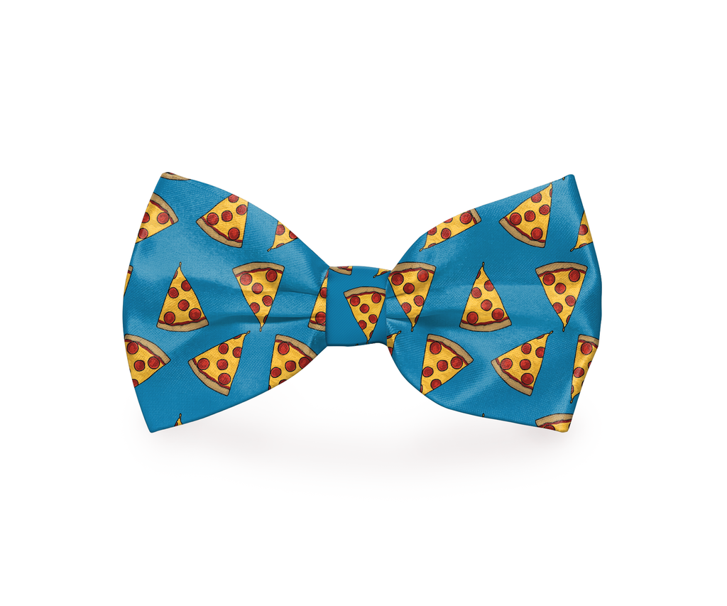"Free Shipping! ""I Usually Only Get The Crust""  Pizza Dog Bow Tie"