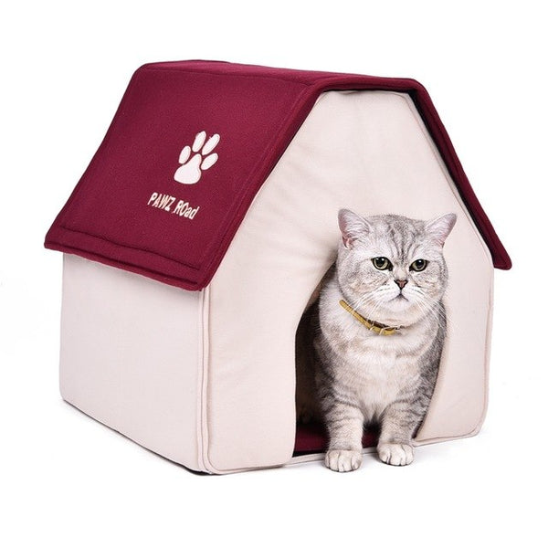 Free Shipping! Luxury Warm Dog House Dog Bed