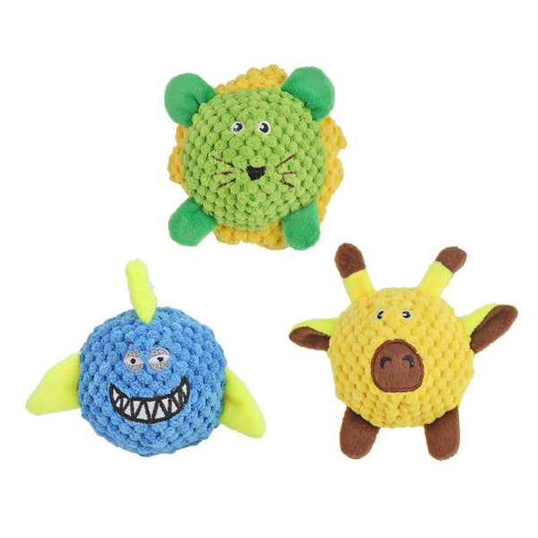 Free Shipping! Dog Toy Plush TPR Ball Cotton Rope Animal