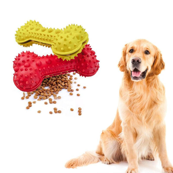 Free Shipping! Pet Toy Rubber Bone Puppy Dog Bite Chew Resistant
