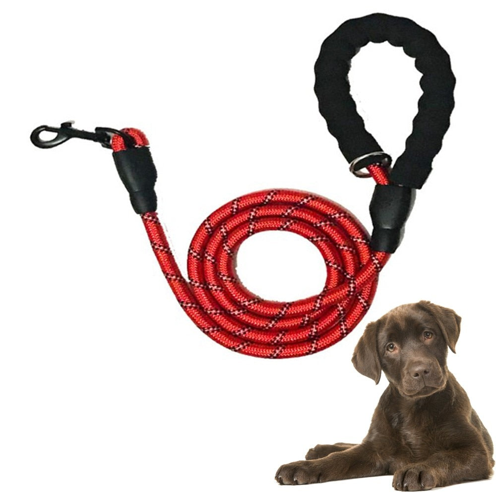 Free Shipping! Reflective Large Dog Leash Nylon Rope Pet Running