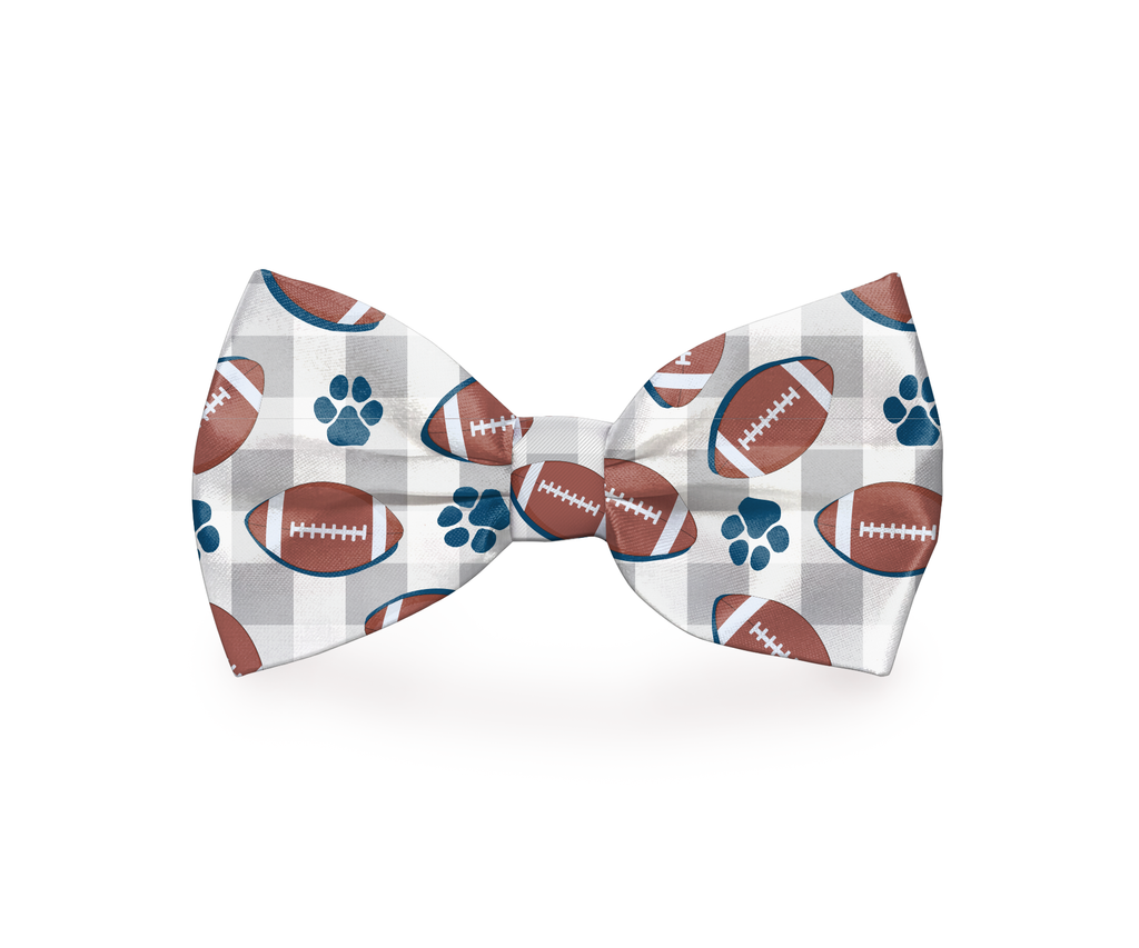 "Free Shipping! ""Set, Hike!"" Football Dog Bow Tie"