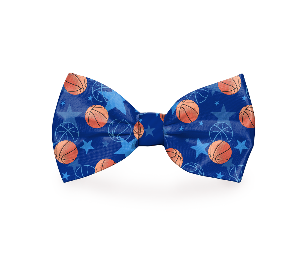 "Free Shipping! ""For Three!"" Basketball Dog Bow Tie"