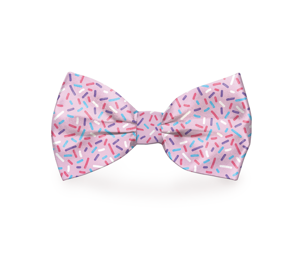 "Free Shipping! ""Pink Sprinkles"" Dog Bow Tie"