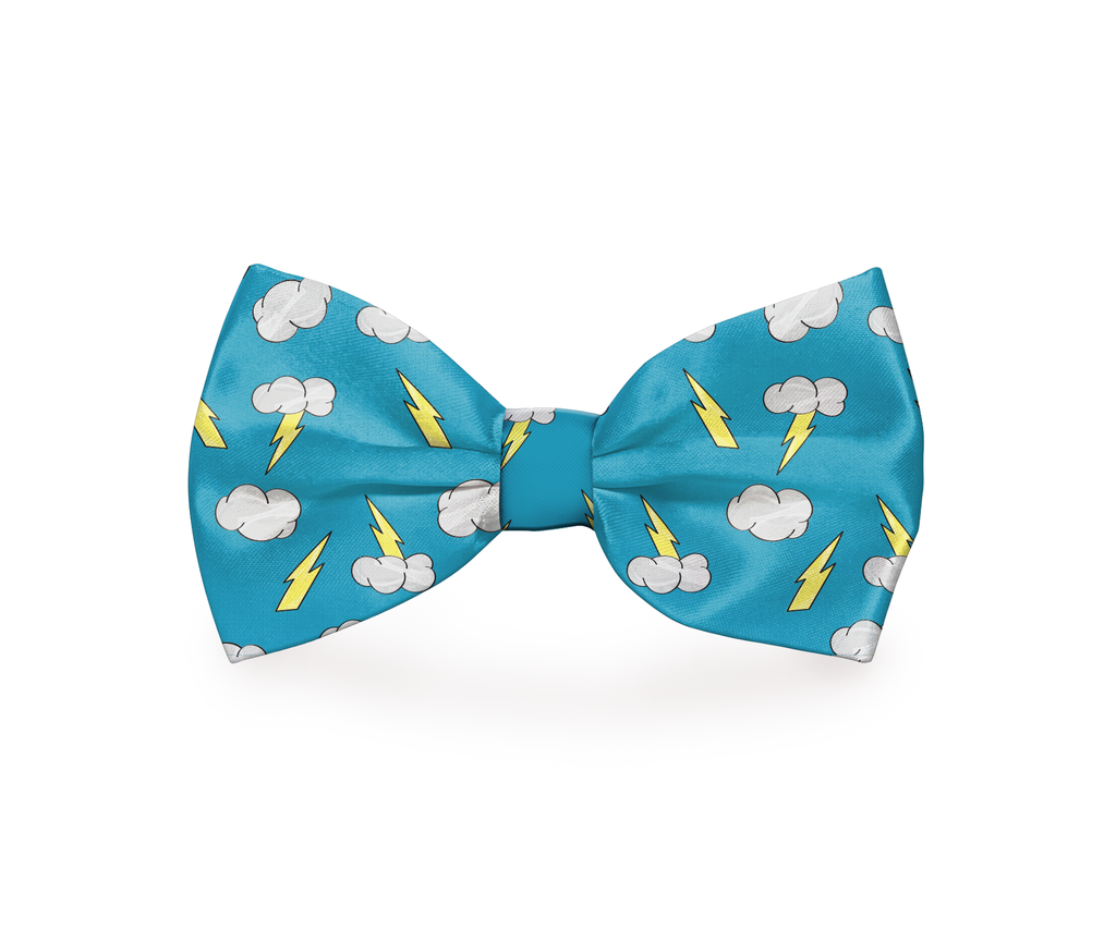 "Free Shipping! ""Thunder Clouds"" Dog Bow Tie"