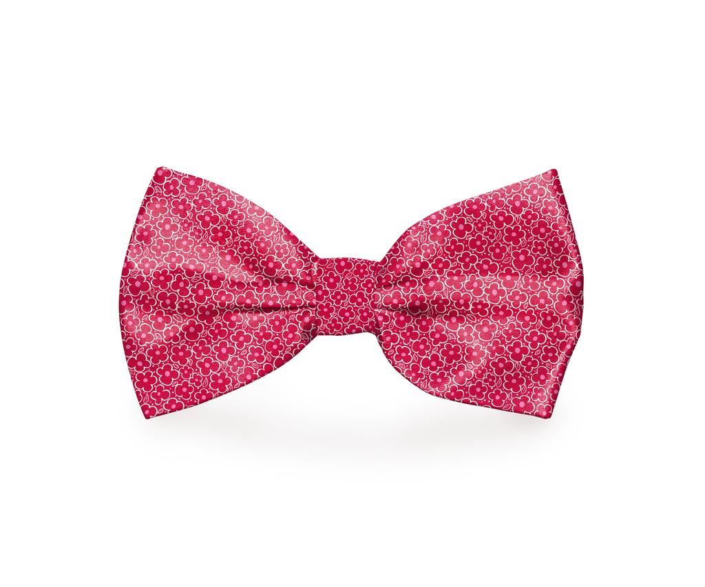 "Free Shipping! ""Tiny Flowers"" Dog Bow Tie"