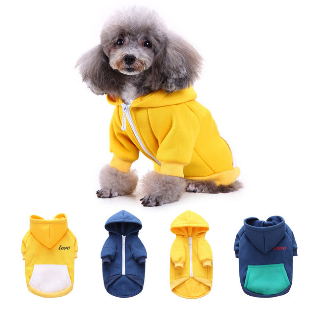 Free Shipping! Winter Trendy Pet Hoodies Clothing For Dogs French