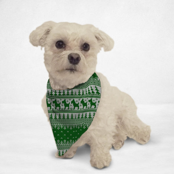 Green Sweater Cat & Dog Bandana