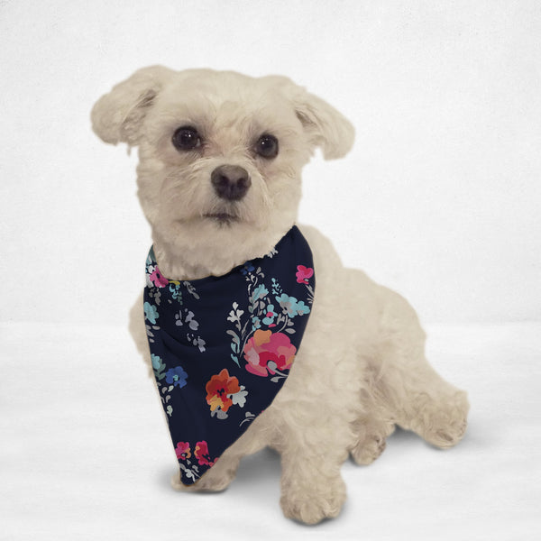 Painted Flowers Cat & Dog Bandana