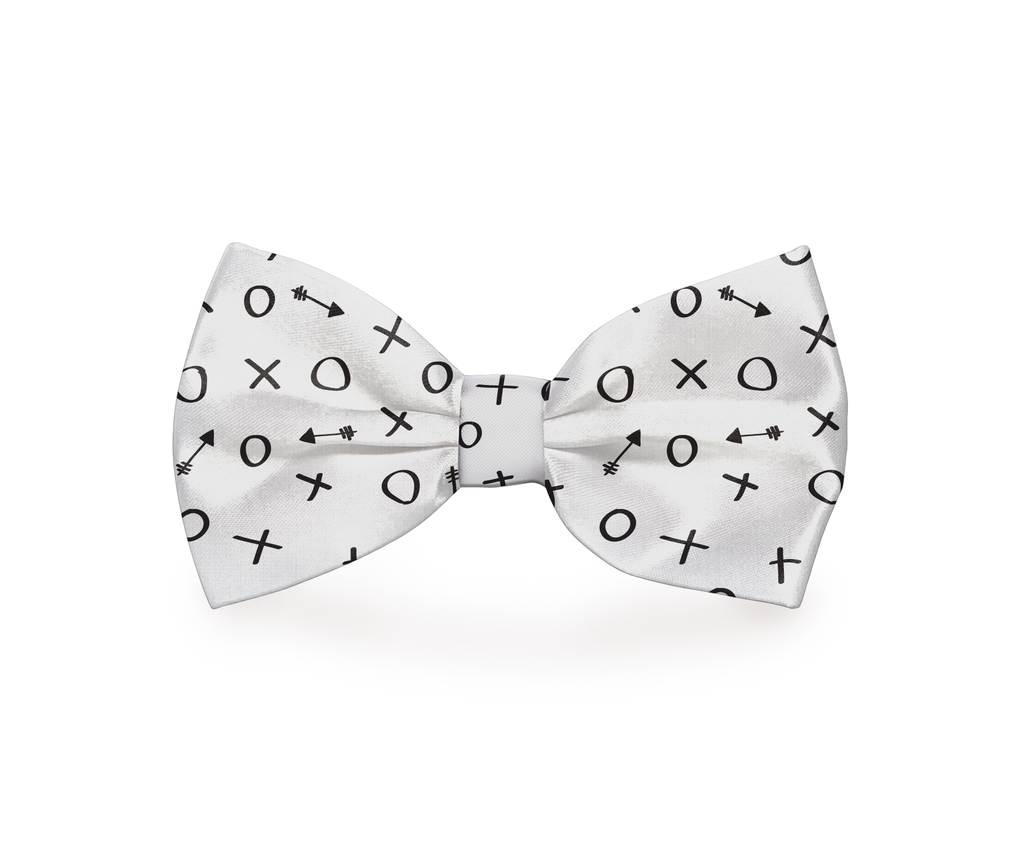 "Free Shipping! ""Hugs & Kisses"" Dog Bow Tie"