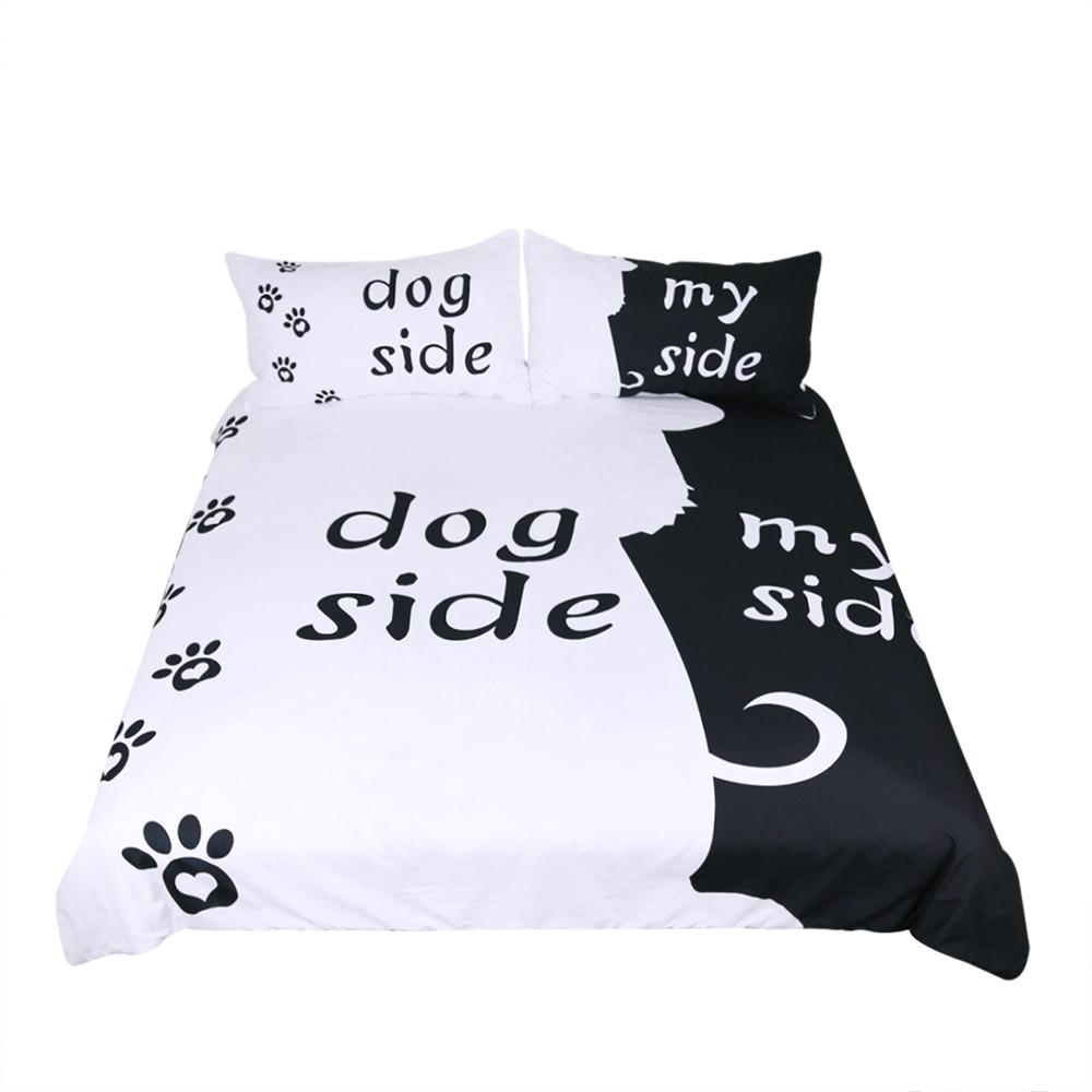 Free Shipping! Cartoon Bedding Set for Kids Duvet Cover Set Dog Themed