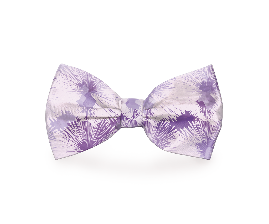"Free Shipping! ""Purple Sky"" Dog Bow Tie"