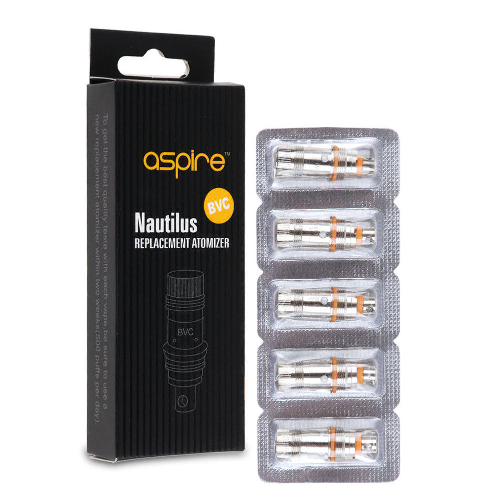 NAUTILUS MINI BVC COILS 1.8 OHM BY ASPIRE (5 PACK)
