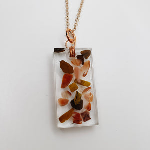 Carnelian and Tiger's Eye Necklace