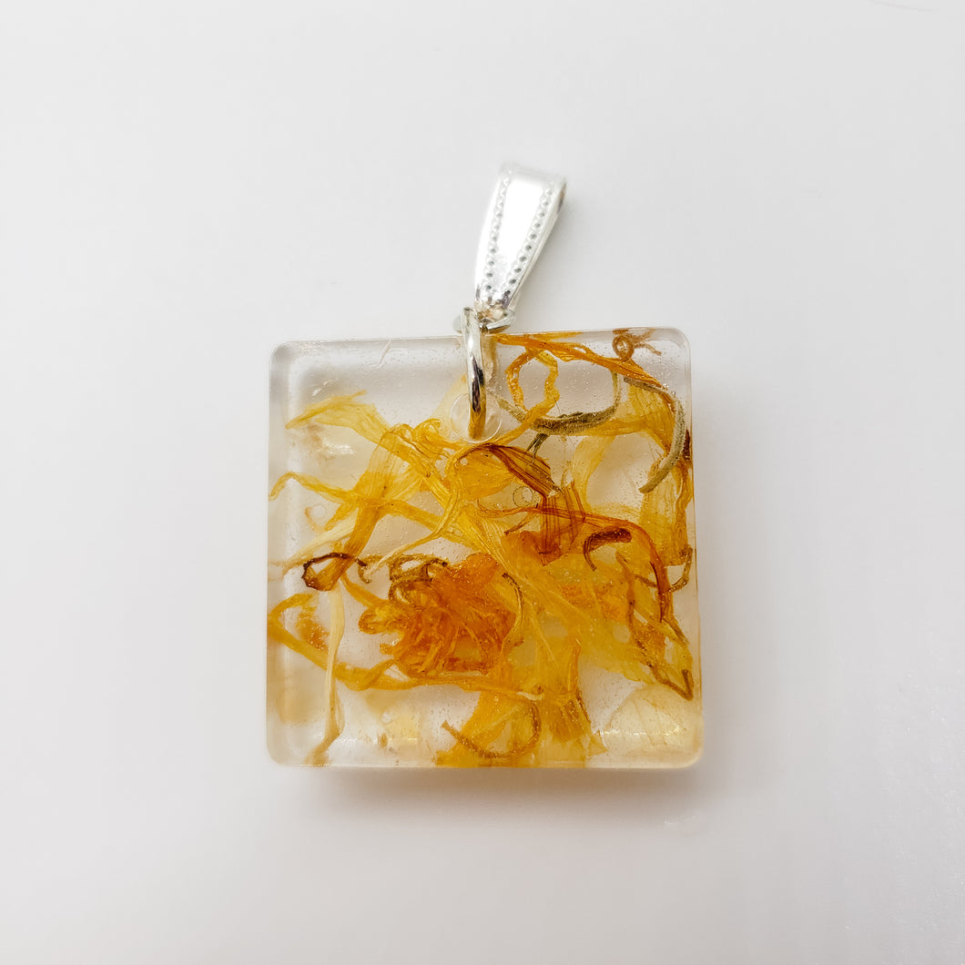Citrine and Marigold Pendant