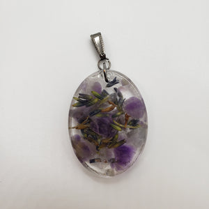 Amethyst and Lavender Pendant