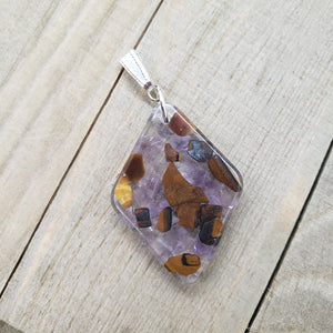 Amethyst and Tiger's Eye Pendant