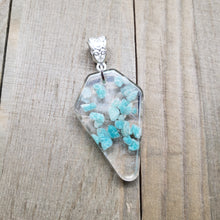 Load image into Gallery viewer, Amazonite and Clear Quartz Pendant