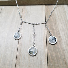 Load image into Gallery viewer, Choker Trio Pendant Necklace