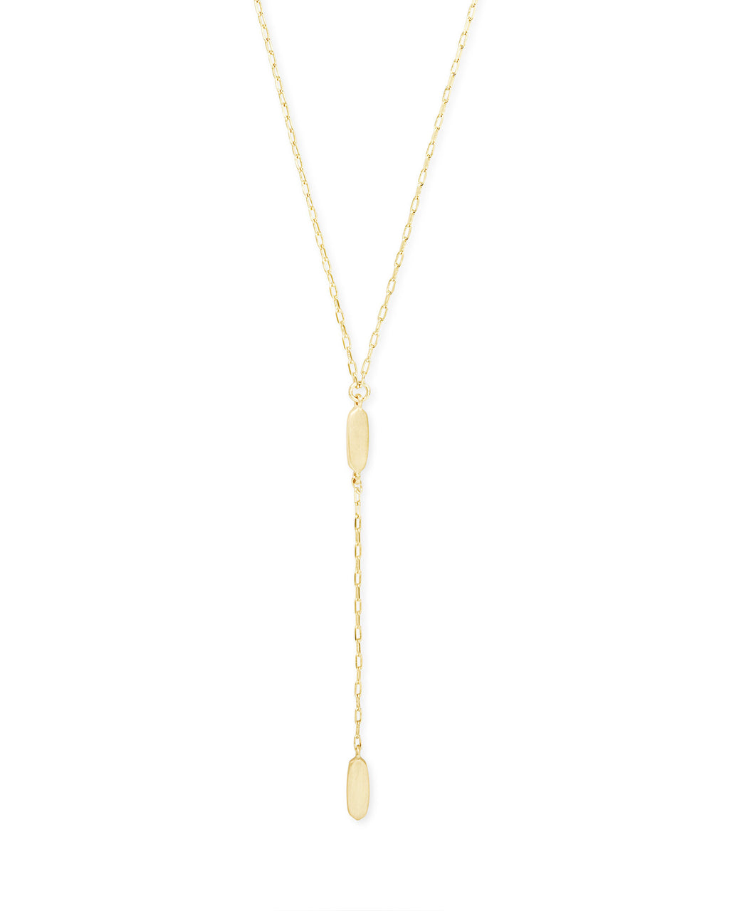 Fern Y Necklace - Gold