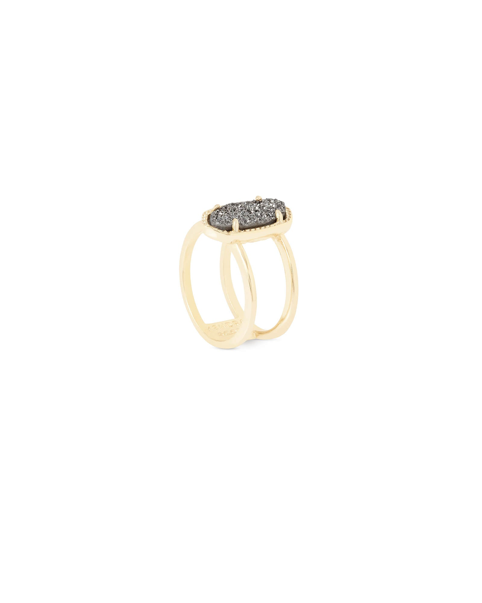 Elyse Ring - Platinum Drusy Gold