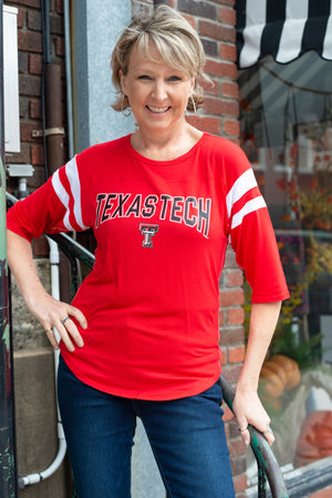 Texas Tech 3/4 Sleeve Top