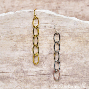 Cable Chain Drop Earrings