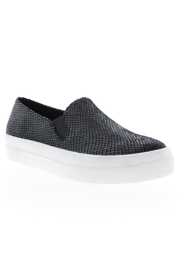 Small Snake Print Slip on Sneaker