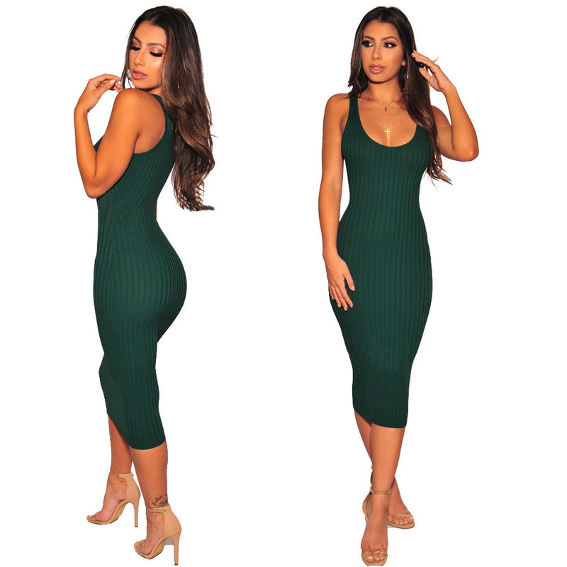 Knit Midi Bodycon Tank Dress