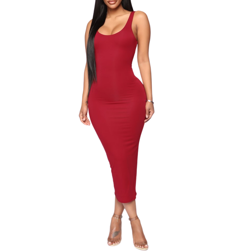 Basic Midi Dress - goddessinc.com