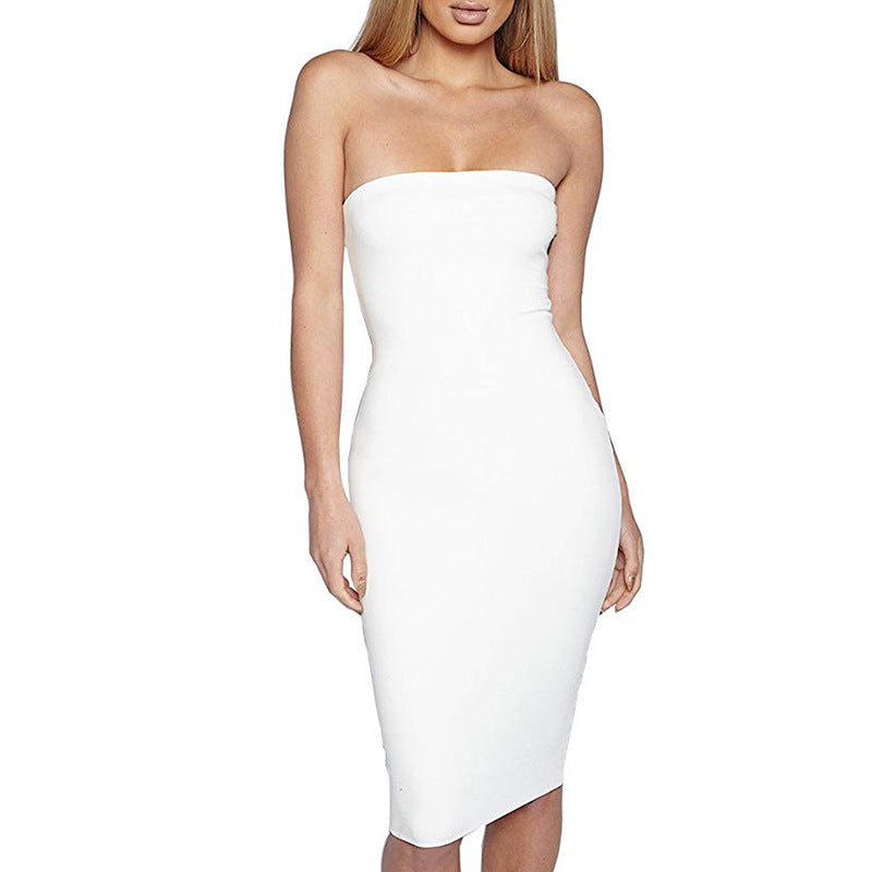 Bodycon Tube Top Dress - goddessinc.com