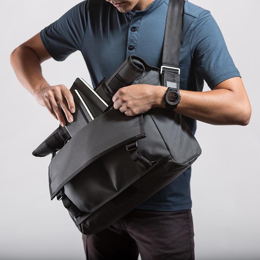 The Monty Roll Top Messenger Bag