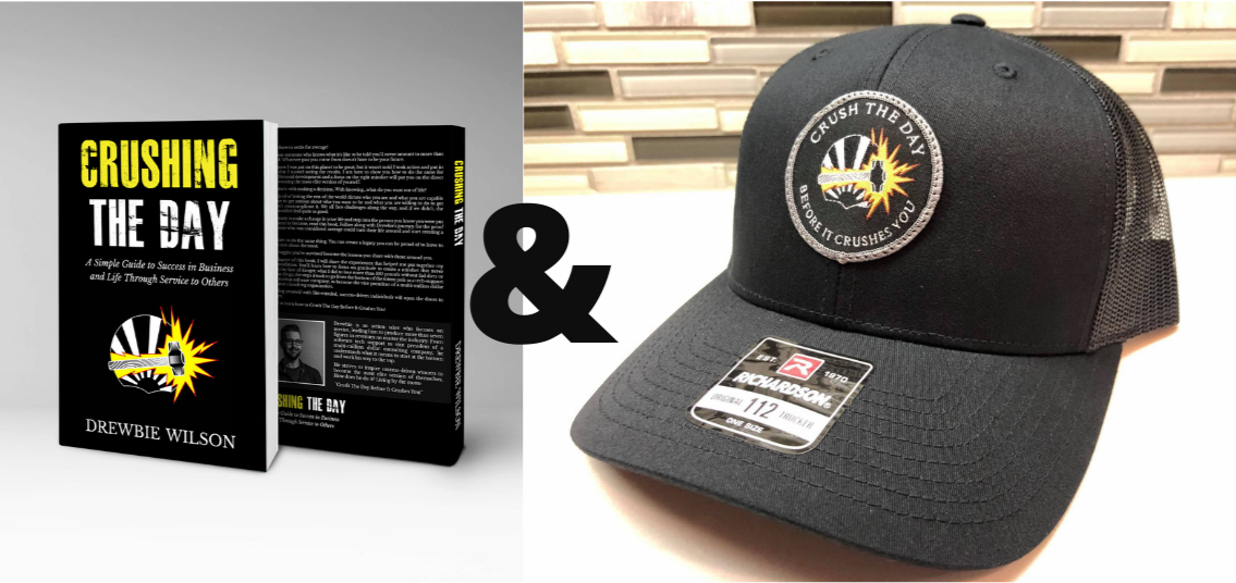 "Hand Signed ""Crushing The Day"" Book and Crush The Day Hat Combo - Crushing The Day"